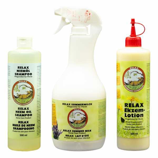 RELAX - Sommerekzempaket XL - Fell- und Hautpflege-Set XL