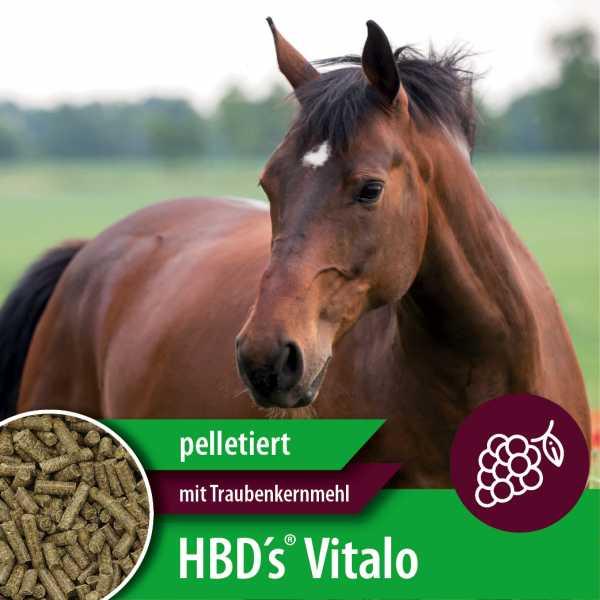 HBD-Agrar - HBD's® Vitalo - TKM (Mit Traubenkernmehl) - Ausgewogenes Kraftfutter für Pferde
