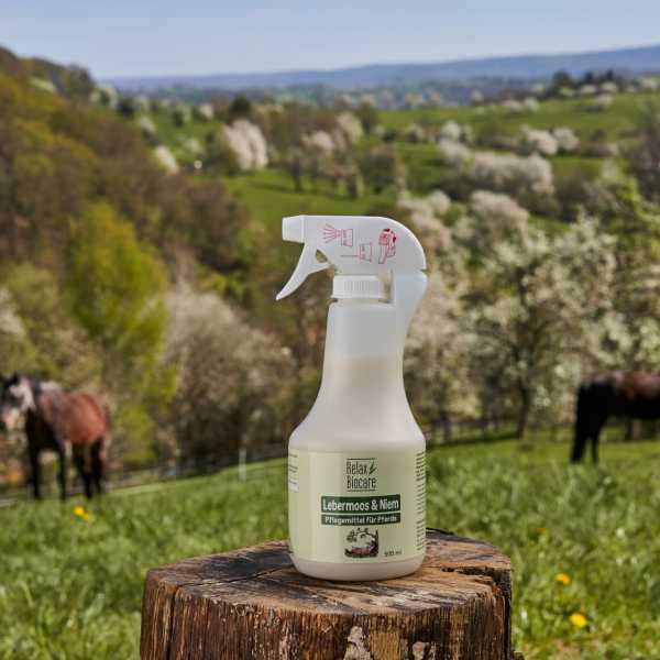 RELAX - Lebermoos & Niem für Pferde - Pflegt und unterstützt die natürliche Schutzfunktion der Haut