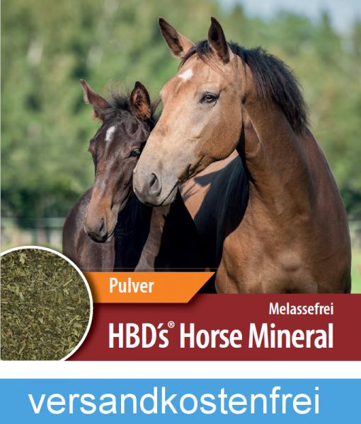 HBD-Agrar - HBD's® HorseMineral MELASSEFREI - ohneApfeltrester, ohne Bierhefe - pulverform