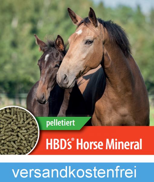 HBD-Agrar - HBD's® HorseMineral - organisch gebundenes Komplettmineralfutter für Pferde