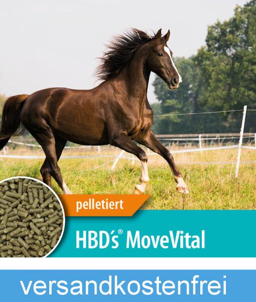 HBD`s® MoveVital - Ergänzungsfuttermittel für stark beanspruchte Pferde