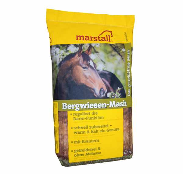marstall - Bergwiesen-Mash - getreide- und melassefreies Mash für Pferde