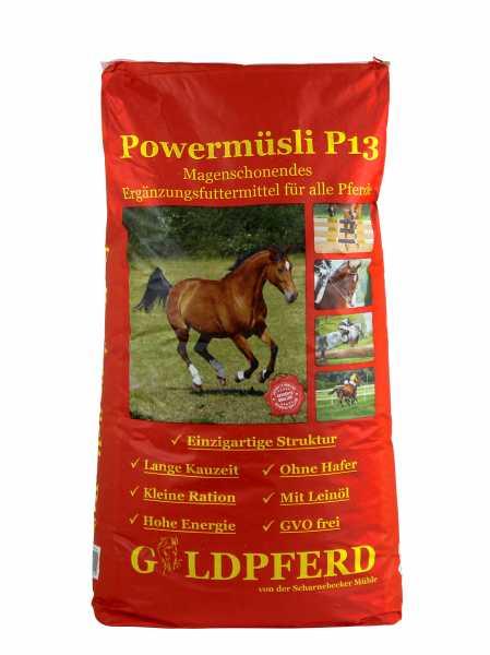 Scharnebecker Mühle - Goldpferd Power Müsli P13 - Kraftfutter für Pferde mit hohem Energiebedarf